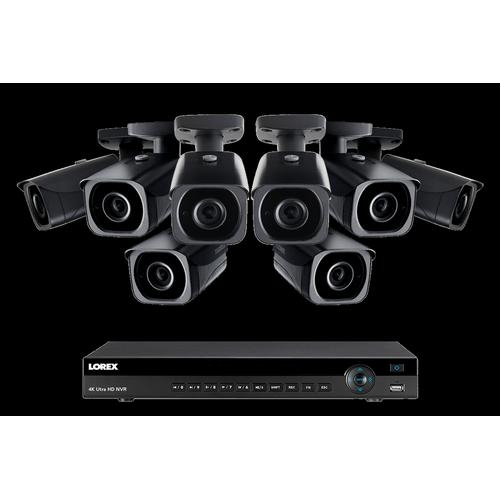Lorex 4KHDIP88NB, 4K Ultra HD IP NVR System with 8 Outdoor 4K 8MP IP  Cameras, 200ft Night Vision